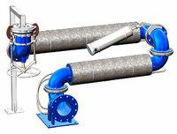 Устройство нижнего слива УСН-150/175 с электрообогревом
