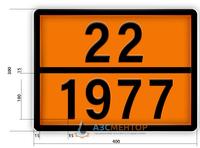 Знак опасный груз 22-1977 ДОПОГ (азот жидкий)