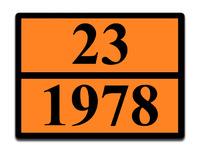 Оранжевая табличка опасный груз 23-1978 (пропан)