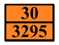 Оранжевая табличка опасный груз 30-3295 (дистиллят газового конденсата)