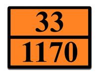 Оранжевая табличка опасный груз 33-1170 (спирт этиловый)