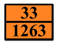 Оранжевая табличка опасный груз 33-1263 (краска)