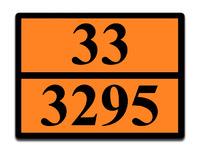 Оранжевая табличка опасный груз 33-3295 (газовый конденсат)