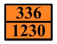 Оранжевая табличка опасный груз 336-1230 (метанол)