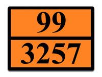 Оранжевая табличка опасный груз 99-3257 (битум)
